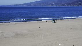 Santa Monica beach stock video footage