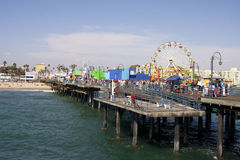 Free Santa Monica Beach Pier Royalty Free Stock Image - 25856916