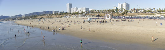 Santa Monica Beach pier sign Royalty Free Stock Photography