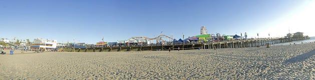 Santa Monica Beach pier royalty free stock photography