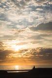 Santa Monica Beach. Sunset Overlook Royalty Free Stock Photography