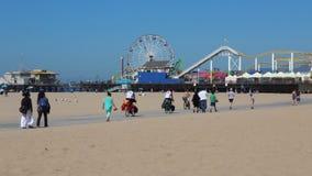 Santa Monica beach stock video footage