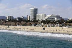 Santa monica beach. View of santa monica beach, california, USA Royalty Free Stock Photos