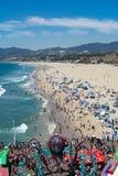 Santa Monica beach on a warm summer day Royalty Free Stock Photo