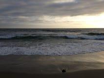 Santa Monica beach waves. Waves on the beach at Santa Monica, California Royalty Free Stock Images