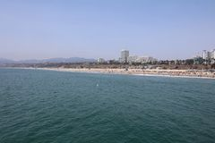 Santa Monica Beach – a wonderful Place for Relaxing or having Fun. CA Stock Images