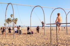 Santa Monica Beach Workout Royalty Free Stock Photo