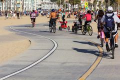 Santa Monica Bicycle path Stock Photo