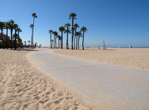 Santa Monica Bike Path. Pacific Beach Bike Path in Santa Monica California Royalty Free Stock Photos