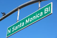 Santa Monica Boulevard Stock Images