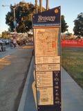 Santa Monica Breeze Bikeshare Information Sign Stockfoto
