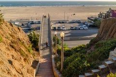 Santa Monica Bridge bei Santa Monica, Kalifornien stockfotografie
