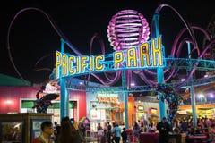 Santa Monica Pier. Santa Monica, CA: April 13, 2017: Santa Monica`s Pacific Park. Santa Monica`s Pacific Park is located on the Santa Monica pier Royalty Free Stock Photo