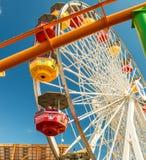 SANTA MONICA, CA - AUGUST 1, 2017: City pier amusement park. The. Pier is a famous tourist attraction with Luna Park Stock Images