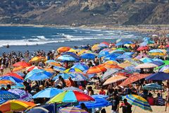 Santa Monica California-strand Stock Afbeeldingen