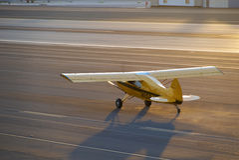 SANTA MONICA, CALIFORNIA USA - OCT 07, 2016: aircraft parking at Airport Royalty Free Stock Photos