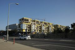 Santa Monica Construction Boom Fotografie Stock