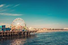 Free Santa Monica Ferris Wheel Amusement Park In Sunset Stock Images - 168565394