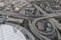 Santa Monica Freeway Interchange Aerial Los Angeles Immagine Stock
