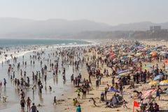 SANTA MONICA KALIFORNIEN - AUGUSTI 2, 2015: Santa Monica strand Royaltyfria Bilder