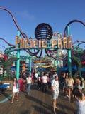 Santa Monica, Kalifornien ES GIBT EINEN VERGNÜGUNGSPARK IN EINEM PIER stockfotos