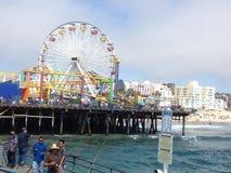 Santa Monica Kalifornien pir Arkivfoto