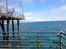 Santa Monica Kalifornien pir Fotografering för Bildbyråer