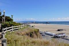 Santa Monica kust Fotografering för Bildbyråer