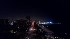Santa Monica, la CALIFORNIE par nuit banque de vidéos