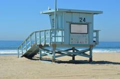 Santa Monica Lifeguard Hut fotos de stock royalty free