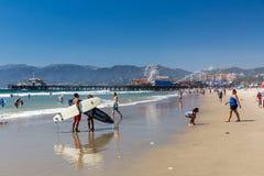 SANTA MONICA LOS ANGELES - SEPTEMBER 13: Dagsikt av Ven Royaltyfri Bild