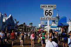 Santa Monica mola początek trasa 66 fotografia royalty free