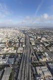 Santa Monica 10 motorväg flyg- Los Angeles Kalifornien Royaltyfri Fotografi