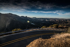 Santa Monica Mountains. The Santa Monica Mountains is a coastal mountain range in Southern California, paralleling the Pacific Ocean Stock Photography