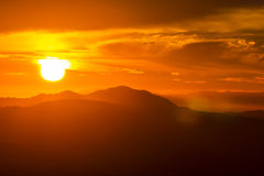 Santa Monica Mountains Sunset Stock Photos