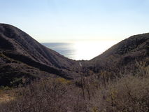Santa Monica Mountains. View of the ocean from the Santa Monica Mountains Stock Photos
