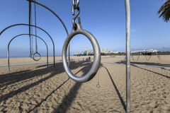 Santa Monica Muscle Beach en Pijler Stock Foto