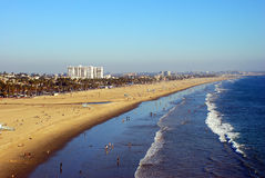 Santa Monica na plaży Fotografia Stock