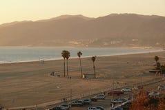 Santa Monica na plaży Zdjęcia Stock