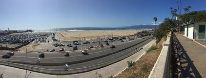 Santa Monica Overlooking l'océan images stock