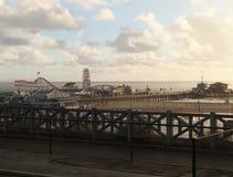 Santa Monica Pier και λούνα παρκ Στοκ εικόνα με δικαίωμα ελεύθερης χρήσης