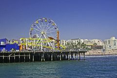 Santa Monica Pier. Summer day - Santa Monica, California pier Royalty Free Stock Photography