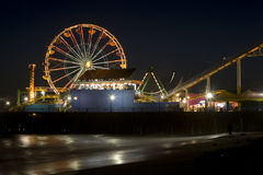 Santa Monica Pier. Horizontal image of the Pacific Wheel, recently sold at auction, at the Santa Monica Pier amusement park Stock Photos