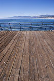 Santa monica pier. View of the Santa Monica Mountains from the pier Stock Image