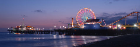 Santa Monica Pier. Photos at Magic Hour Stock Photography