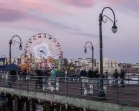 Santa Monica Pier Στοκ εικόνες με δικαίωμα ελεύθερης χρήσης
