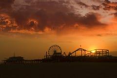 Santa Monica Pier Stockbild