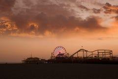 Santa Monica Pier Lizenzfreies Stockfoto