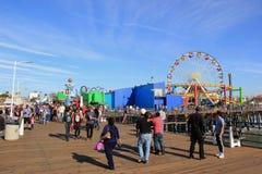 Santa Monica Pier Lizenzfreies Stockbild
