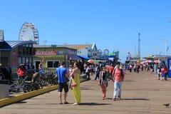 Santa Monica Pier Foto de Stock Royalty Free